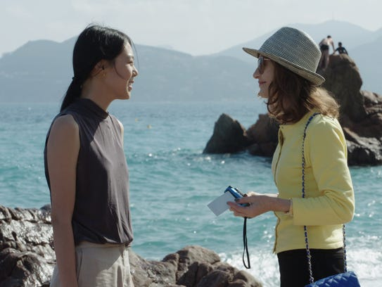 "Kim Minhee (left) and Isabelle Huppert star in ""Claire's"
