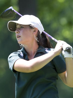 Girls golf at Bamm Hollow CC. NJSIAA Tournament of Champions. Emily Mills, Colts Neck....Bob Bielk/Asbury Park Press-5/25/11-Sports-Middletown