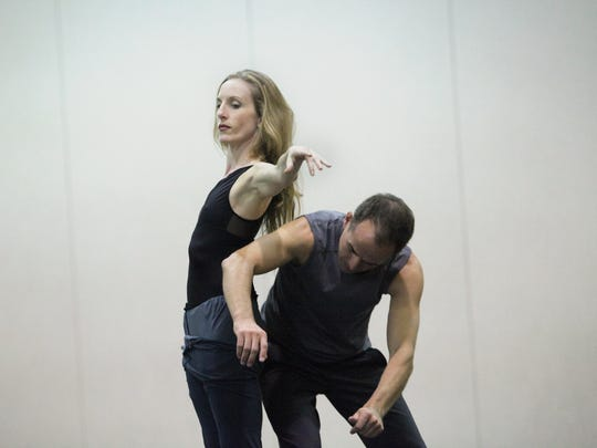 """Louisville native Wendy Whelan and choreographer Brian Brooks working together in 2012 on their first project """"Restless Creature"""" at Vail International Dance Festival."""