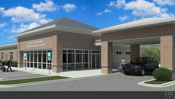 Rendering of the new ambulatory surgery center in Spartanburg.