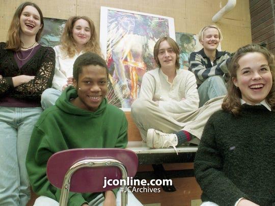 The Lafayette Jefferson art stars, clockwise from left: