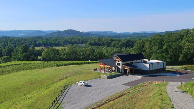A view of Stone Ashe Vineyard, which opened last week in Hendersonville.