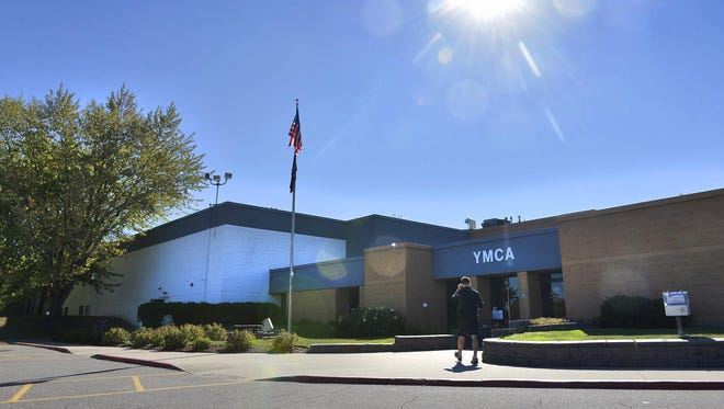 A patron walks into the St. Cloud Area Family YMCA on Northway Drive in October 2015.
