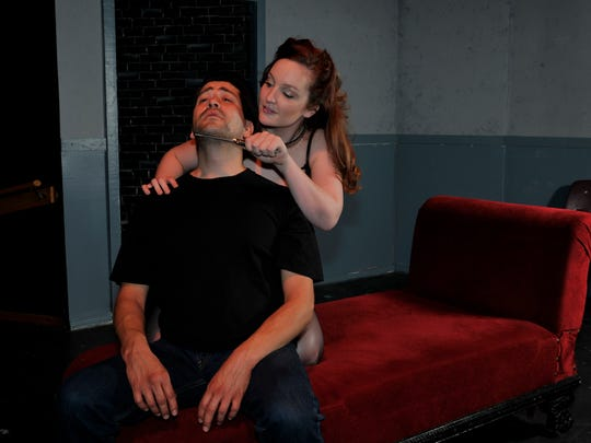 "Lindsay Tweed and Robert Langarica star in The Fourth Wall Theatre's ""Venus in Fur"" at the Creative Center."