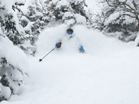 Deep powder at Jay Peak.