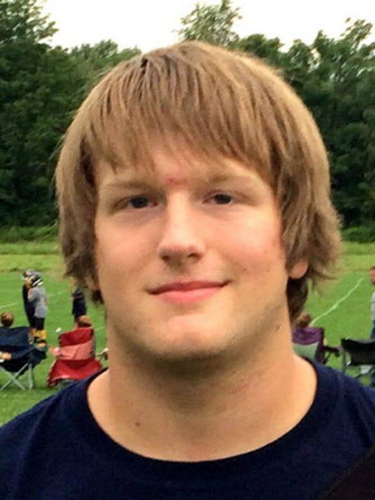 Littlestown senior offensive lineman Devyn Houck