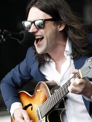 Conor Oberst performs at the Newport Folk Festival in Newport, R.I. on Sunday, July 29, 2012.