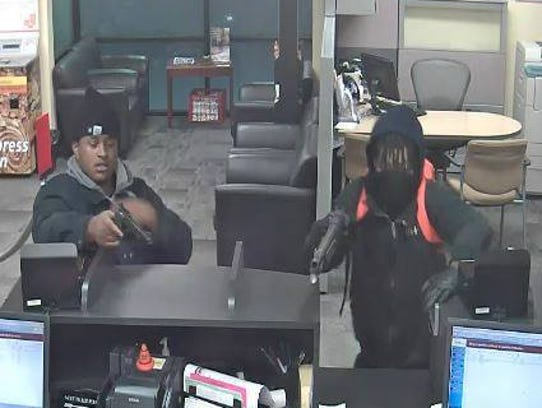 This surveillance photo from the Feb. 2 armed robbery