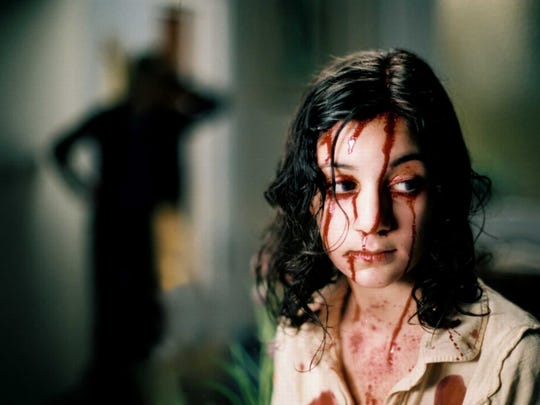 "In 2008's ""Let the Right One In,"" Lina Leandersson plays a vampire. That explains the   blood on her face."