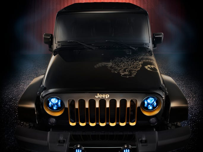 In the right lighting, the 2014 Jeep Wrangler Dragon limited-production model seems like the real thing, or the real fantasy thing. It's arriving at dealers now and starts at $37,090.