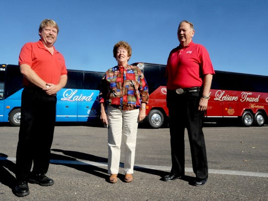Laird Leisure Travel has a new office in the Old Columbus Center. Pictured are owners Bob Laird Jr, Bernice Laird and Bob Laird Sr.