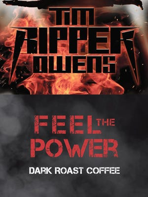 "Tim ""Ripper"" Owens' Feel the Power dark roast coffee is available at RockDBeverage.com."