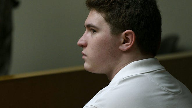 William Riley Gaul waiting for his trial to start back Thursday, May 3, 2018. Gaul, a former Maryville College football player, is charged in the 2016 shooting death of his 16-year-old ex-girlfriend Emma Jane Walker.