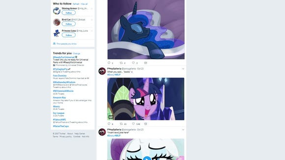 The #MLP hashtag used Wednesday by U.S. Sen. Chris