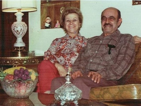 "Lynn Adamo's photo of her grandma and grandpa: Rose and Vincent ""Jim"" Adamo."