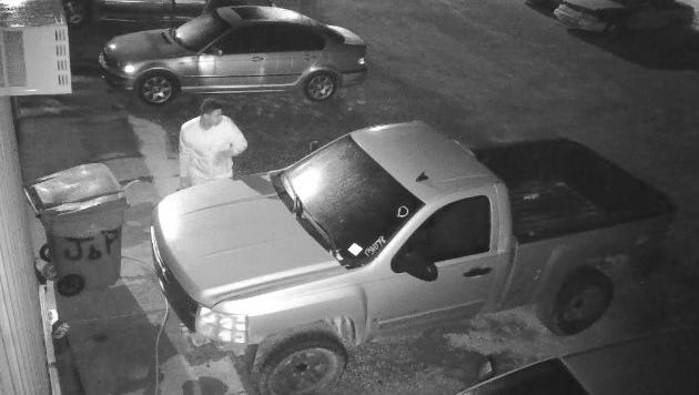 Police are asking for the public's help in identifying two men suspected of stealing car batteries in the Wares Ferry Road area.