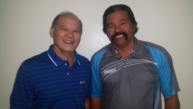 From left: Buddy Saludo and Manny Torre.