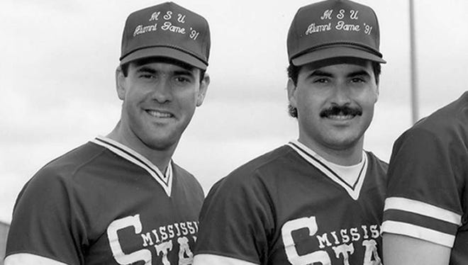 Will Clark (left) and Rafael Palmeiro returned to Starkville this weekend for the 1985 baseball team reunion.