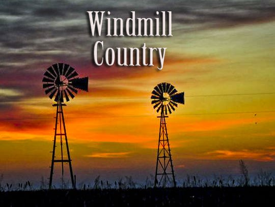 Jerry Lackey Windmill Country Banner - 2 windmills