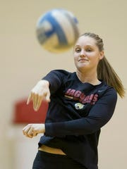 Kaitlyn Hickey, a senior volleyball player at IUPUI,