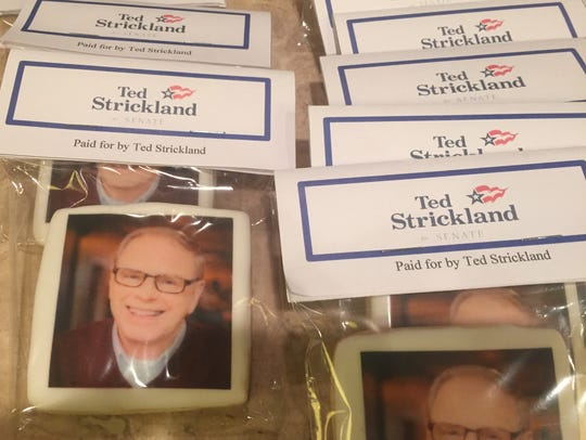 The Ted Strickland campaign had personalized cookies