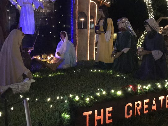 Mr. Bill's Wonderland continues across the street with a life-size nativity scene.