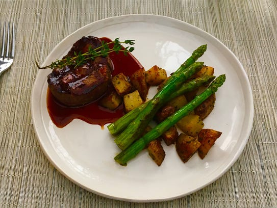 The petit filet ($41) comes with a red-wine demi-glace