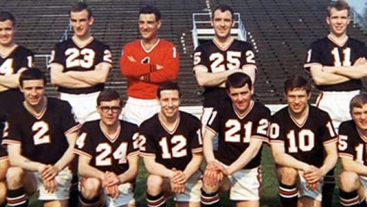 Members of the Detroit Cougars team in 1967.