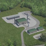 Rendering of a gas compressor station Columbia Pipeline Group plans to build in the Cane Ridge community.