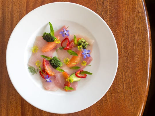 Tuna Crudo is a work of art in the hands of Chef Jason