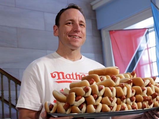AP NATHANS HOT DOG EATING CONTEST A S USA NY