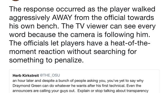 The NBA Referees finally explained why Draymond Green didn't get a 2nd technical