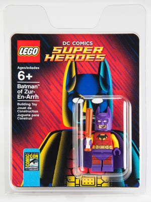 Batman of Zur-En-Arrh is one of several mini-figures to be given out exclusively this week at Comic-Con.