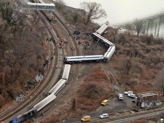 Metro North train derailment