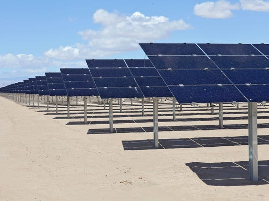 The 150-megawatt Tenaska Imperial Solar Energy Center West generates electricity just outside El Centro in California's Imperial Valley, near the Mexican border.