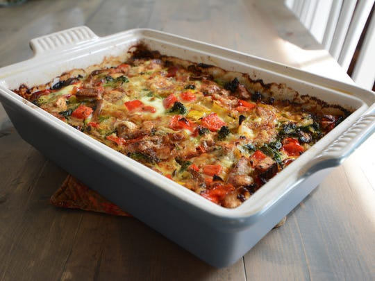 Leftover vegetables find their way deliciously into