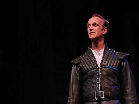 "James Ridge, seen here as Iago in ""Othello,' will play"