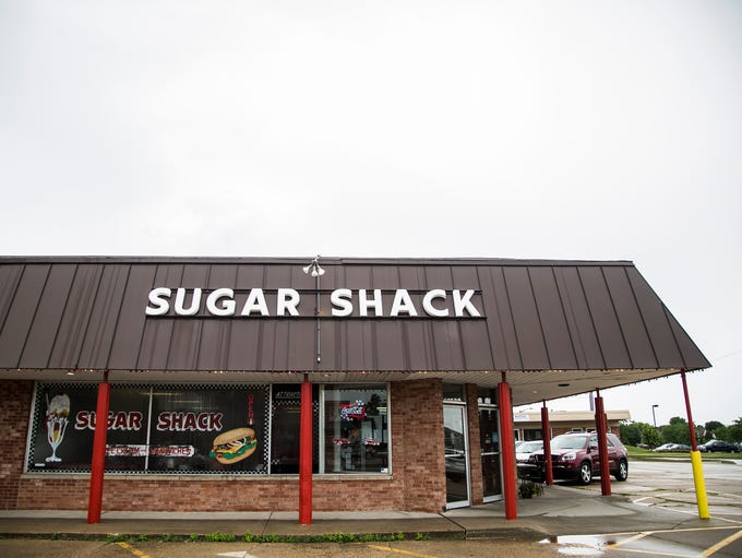 Outside the Sugar Shack on 8th Street in Altoona on