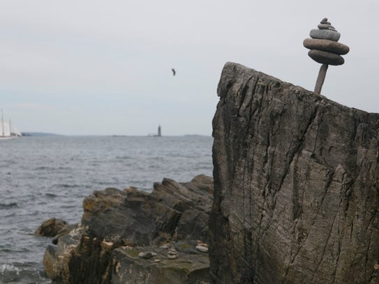 The Ram Island Lighthouse can be seen in the distance