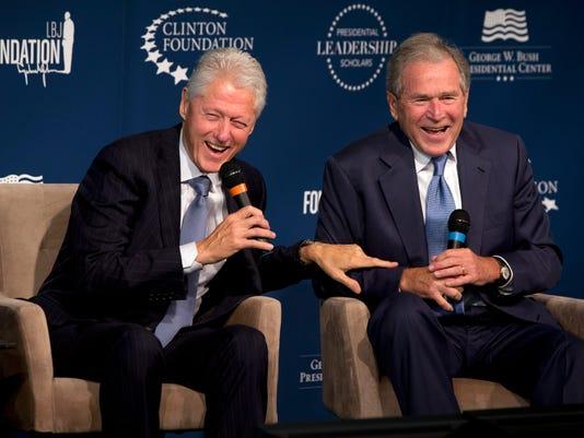 George W. Bush, Bill Clinton
