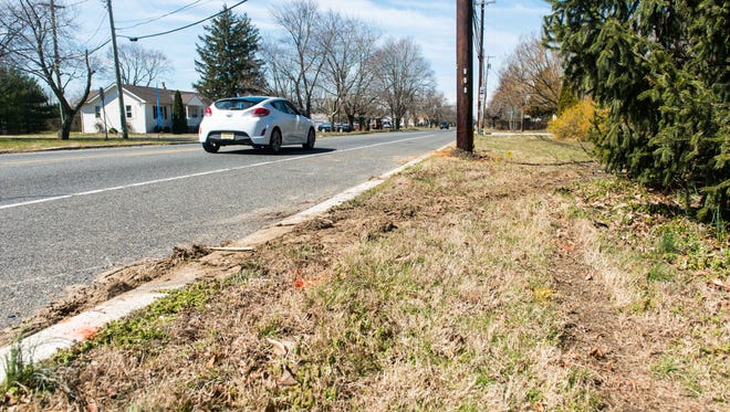 The location of a Friday night car crash in the area of West Main Street and Lisa Marie Terrace involving off-duty Millville Det. Michael McLaughlin.
