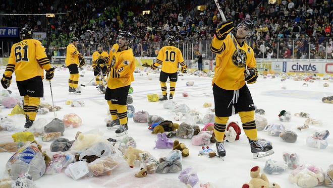 Get your teddy bear and prepare to toss for the 19th annual Teddy Bear Toss Night on Saturday at the Green Bay Gamblers game at the Resch Center.