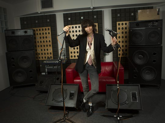 Chrissie Hynde poses for portraits at a north London recording studio, in 2014.