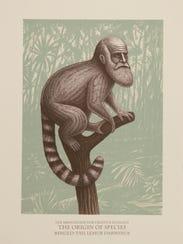 """""""Lemur Darwinus"""" by Beauvais Lyons on display at Milwaukee"""