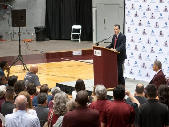 Paul Weir was introduced as the New Mexico State men's
