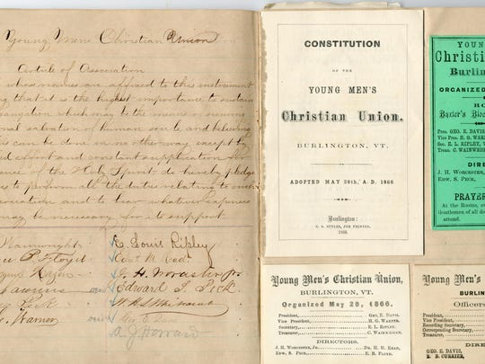 Documents on the history of the YMCA in Burlington.
