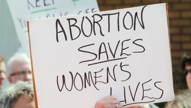 Hundreds rally in support of Louisville's EMW Surgical Center. It is the last place in Kentucky for a legal abortion and Gov. Matt Bevin's administration is trying to shut it down. April 2, 2017