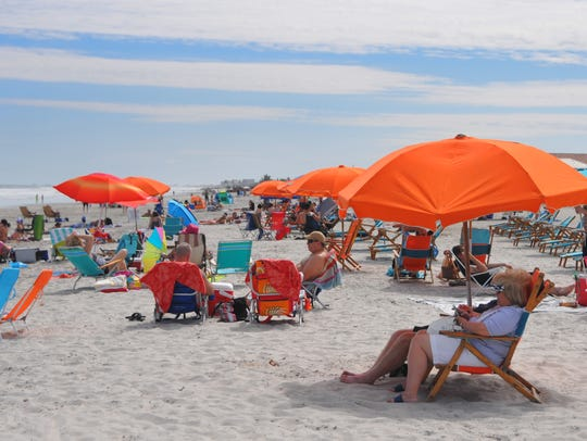 Friday was a gorgeous beach day for vacationers and