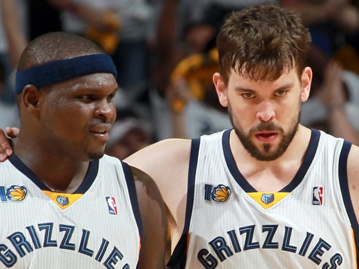 May 9, 2011 -   Memphis Grizzlies big men forward Zach