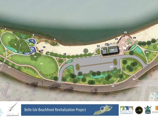 The plans for the splash pad and beach renovation have